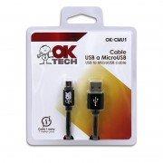 OkTech OK-CMU1 Cable MicroUSB a USB m/m 1m (Carga y Sincroniza)