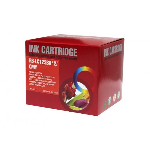 Compatible brother lc121xl/lc123xl v3 multipack de 5 cartuchos de tinta  BI-LC123PK-5