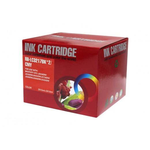 Compatible brother lc3217 v4 multipack de 5 cartuchos de tinta  BI-LC3217PK-5