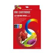 Compatible brother lc980xl/lc1100xl/lc985xl multipack de 5 cartuchos de tinta  BI-LC980XLPK-5(U)