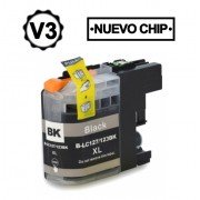 Compatible bulk_brother lc121xl/lc123xl v3 negro cartucho de tinta  BULK-LC123BK