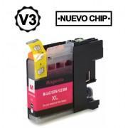 Compatible bulk_brother lc121xl/lc123xl v3 magenta cartucho de tinta  BULK-LC123MG