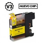 Compatible bulk_brother lc121xl/lc123xl v3 amarillo cartucho de tinta  BULK-LC123YL
