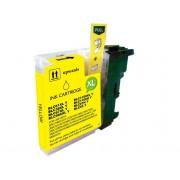 Compatible bulk_brother lc980xl/lc1100xl/lc985xl amarillo cartucho de tinta  BULK-LC980XLYL