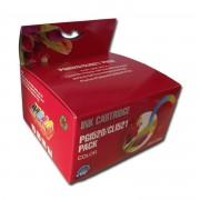 Compatible canon pgi520/cli521 multipack de 5 cartuchos de tinta  CI-PGI520PK-5