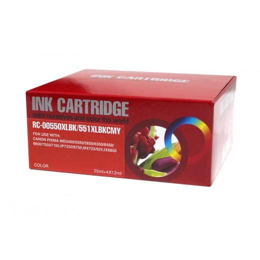 Compatible canon pgi550xl/cli551xl multipack de 5 cartuchos de tinta  CI-PGI550XLPK-5