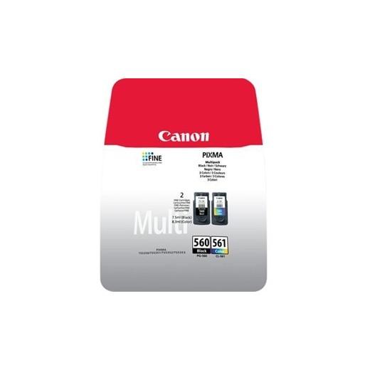 Original canon pg560 negro + cl561 color pack de 2 cartuchos de tinta  3713C006