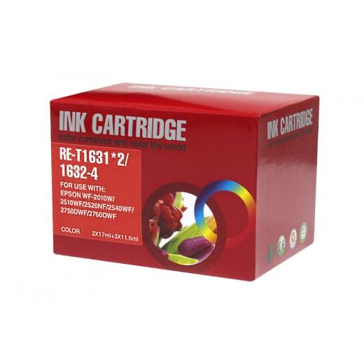 Compatible epson t1636 multipack de 5 cartuchos de tinta  EI-T1636PK-5