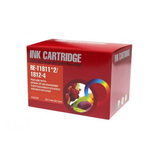 Compatible epson t1816 multipack de 5 cartuchos de tinta  EI-T1816PK-5