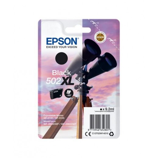 Original epson 502xl negro cartucho de tinta  C13T02W14010