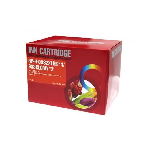 Compatible hp 932xl/933xl v4/v5 multipack de 10 cartuchos de tinta  HI-932XLPK-10