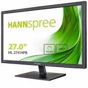 Hannspree monitor led 27 pulgadas 1080p full hd -  respuesta 2ms - 16:9 - angulo de vision 170º - altavoces 2w - hdmi