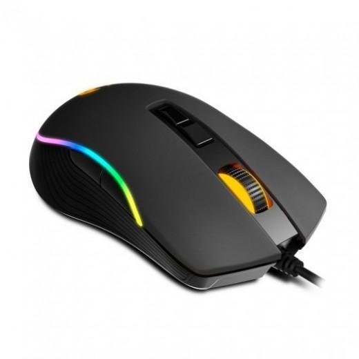 Krom kane raton gaming usb 4000dpi - iluminacion rgb con efectos - 8 botones configurables - uso ambidiestro - color negro