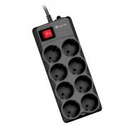 Ngs regleta de proteccion con 8 enchufes - hasta 10a - cable de 1.50 m - interruptor on/off - color negro
