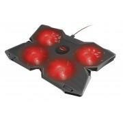 Trust gaming soporte de refrigeracion para portatil usb gxt 278 yozu - hasta 17.3 pulgadas - 4 ventiladores  - velocidad ajusta