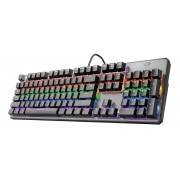 Trust teclado mecanico gaming usb gxt 865 asta - 11 teclas multimedia - teclas con tecnologia n-key rellover/antighosting - ilu
