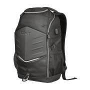 Trust mochila para portatil 15.6 pulgadas gxt 1255 outlaw - funda impermeable - puerto de carga usb - protector frontal - negro