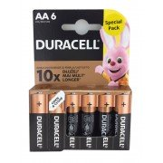 Duracell pilas alcalinas aa lr6 1.5v (6 unidades)