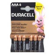 Duracell pilas alcalinas aaa lr03 1.5v (6 unidades)