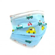 Prosafe pack 50 mascarillas higienicas infantiles desechables - 3 capas - bfe 95% - une 0064-2:2020 - diseño coches