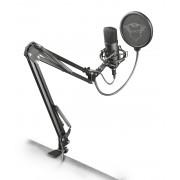 Trust gaming gxt 252+ emita plus microfono usb para streaming - grabacion cardioide - antivibracion - brazo ajustable - cable d