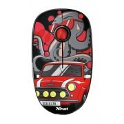 Trust sketch raton inalambrico 1600dpi - 3 botones silenciosos - uso ambidiestro - color rojo