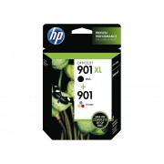 Original hp 901xl negro + 901 color pack de 2 cartuchos de tinta  SD519AE