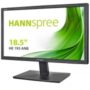 Hannspree monitor led 18.5 pulgadas 1366x766 wxga hdr - 16:9 - angulo de vision 90º - respuesta 5ms - vga - vesa 100x100 mm