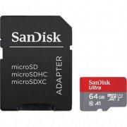 Sandisk ultra tarjeta micro sdxc 64gb uhs-i u1 a1 clase 10 120mb/s + adaptador sd