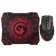 Scorpion m355+g1 pack gaming de raton usb 6400dpi - 7 botones programables - iluminacion led + alfombrilla 28.7x24.4 cm - uso d