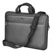 Trust york maletin duro para portatil 13 pulgadas-14 pulgadas - compartimento exterior - acolchado - ligero - color gris