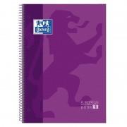 Cuaderno con espiral cuadriculado oxford european book 1 400072665/ a4+/ 80 hojas/ morado