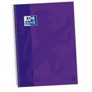 Cuaderno con espiral cuadriculado oxford european book 1 touch 400075550/ a4+/ 80 hojas/ lila