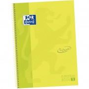 Cuaderno con espiral cuadriculado oxford european book 1 touch 400075551/ a4+/ 80 hojas/ lima
