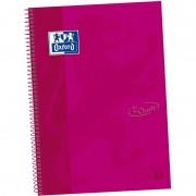 Cuaderno con espiral cuadriculado oxford european book 1 touch 400075552/ a4+/ 80 hojas/ rosa