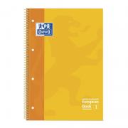 Cuaderno con espiral cuadriculado oxford european book 1 100430200/ a4+/ 80 hojas/ amarillo