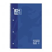 Cuaderno con espiral cuadriculado oxford european book 1 100430197/ a4+/ 80 hojas/ azul
