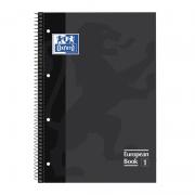 Cuaderno con espiral cuadriculado oxford european book 1 100430269/ a4+/ 80 hojas/ gris