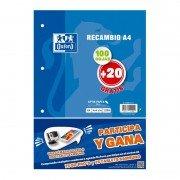 Recambio de cuaderno cuadriculado oxford 400058179/ a4/ 120 hojas