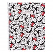Cuaderno con espiral rayado erik minnie mouse ctppma40005/ a4/ 80 hojas