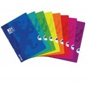 Cuaderno grapado cuadrícula 4x4 oxford/ a5+/ 48 hojas/ 10 unidades/ colores surtidos