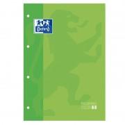 Recambio de cuaderno cuadriculado oxford classic 400123674/ a4-a4+/ 80 hojas/ verde manzana