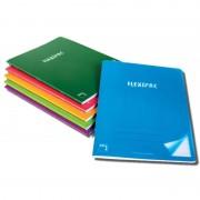 Cuaderno grapado cuadrícula 4x4 sam flexipac/ a4/ 48 hojas/ 6 unidades/ colores surtidos