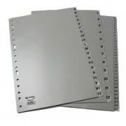 Separador alfabético grafoplás 44408071/ a4/ 25 unidades/ gris