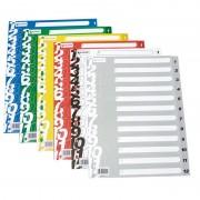 Separador numérico grafoplás 41413071/ a4/ colores surtidos
