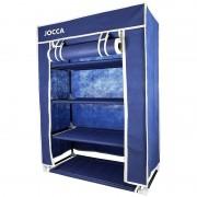 Zapatero jocca or057m/ apertura vertical/ 4 baldas/ 80 x 60 x 30cm/ azul