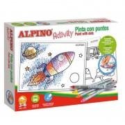 Pack alpino activity ac000002 10 rotuladores doble punta + 6 laminas para colorear