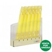 Marcador doble punta fluorescente apli candy/ amarillo