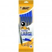 Bolígrafos de tinta de aceite bic cristal large 888746/ 5 unidades/ azules