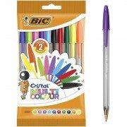 Bolígrafos de tinta de aceite bic cristal 943437/ 10 unidades/ colores surtidos